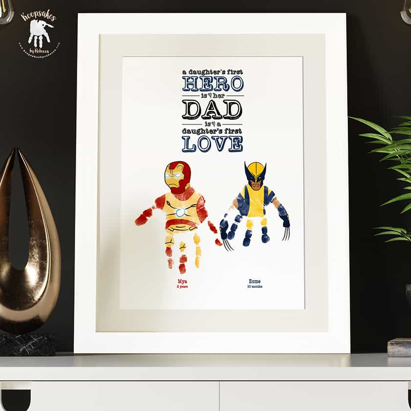 Dad-handprints-footprints-keepsake-Wolverine-Ironman